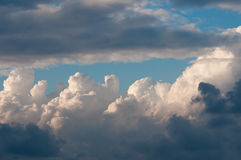Sky with clouds and clouds Stock Image
