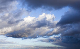The sky with clouds Stock Photography
