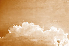 Sky and clouds on concrete wall texture Stock Images