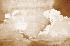 Sky and clouds on concrete wall texture Royalty Free Stock Photography