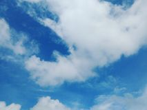 The sky clouds. The sky covered with a huge cloud stock photos