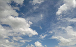 Sky Clouds. Sky covered with a lot of Clouds Stock Photo
