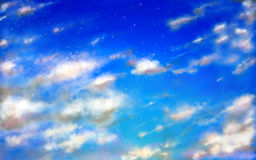 Sky clouds. Creative clouds on a bright blue sky Stock Photography