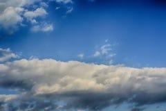 Sky clouds. Dark storm clouds before rain Stock Photo