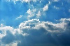 Sky clouds. Dark storm clouds before rain Stock Image