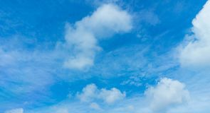 Sky and clouds in daytime. Nice beautiful blue sky and clouds in daytime Royalty Free Stock Photography