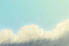 Sky / clouds. / digital painting / illustration Royalty Free Stock Images
