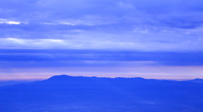 Sky clouds early morning dawn twilight, Doi Angkhang Thailand. Stock Photo