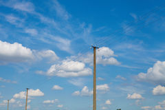 Sky with clouds. Energy Royalty Free Stock Photo