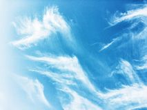 Sky and clouds - environment, nature background, weather and meteorology concept. Elegant visuals royalty free stock image