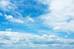 Sky and clouds - environment, nature background, weather and meteorology concept. Elegant visuals stock photo