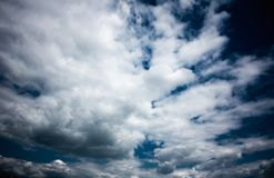 Sky and clouds - environment, nature background, weather and meteorology concept. Elegant visuals royalty free stock photo