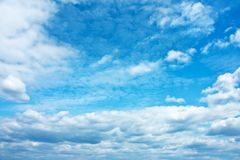 Sky and clouds - environment, nature background, weather and meteorology concept. Elegant visuals stock photography