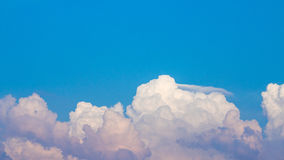 Sky and clouds. In the evening Royalty Free Stock Photos