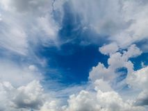 Sky with clouds forming a beautiful scene. Sky with clouds forming a beautiful scene, in a small city near Belo Horizonte, Brazil stock photo