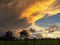 Sky with clouds forming a beautiful scene. Sky with clouds forming a beautiful scene, in a small city near Belo Horizonte, Brazil stock photos