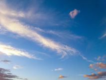 Sky with clouds forming a beautiful scene. Sky with clouds forming a beautiful scene, in a small city near Belo Horizonte, Brazil royalty free stock photo