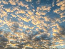 Sky with clouds forming a beautiful scene. Sky with clouds forming a beautiful scene, in a small city near Belo Horizonte, Brazil stock photography