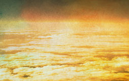 Sky with clouds in grunge textured style Stock Photography