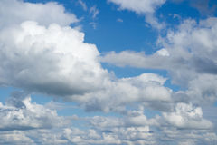 Sky with clouds. Royalty Free Stock Photos