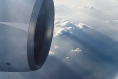 Sky and clouds from jet flight Stock Photography