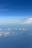 Sky and clouds from jet flight Royalty Free Stock Image
