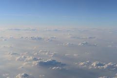 Sky and clouds from jet flight Stock Photos