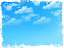 Sky clouds landscape Royalty Free Stock Images