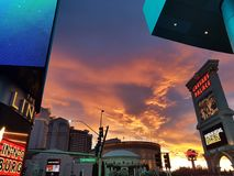 Clouds and Sky, Las Vegas, sunset lights effect. Sky and clouds, Las Vegas, Nevada royalty free stock image