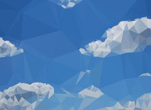 Sky with clouds. Low poly illustration of the sky with clouds Stock Images
