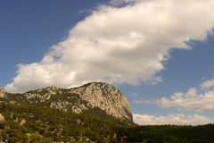Sky, clouds and mountain. Sky, clouds, mountains near Antalya (Turkey Royalty Free Stock Image