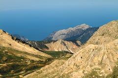 Sky, clouds and mountain. S near Antalya (Turkey Royalty Free Stock Photo