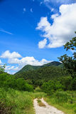 Sky clouds and mountain Royalty Free Stock Photo