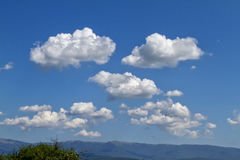 Sky, clouds and mountain Stock Image