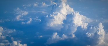 Sky and clouds natural banner Stock Photography