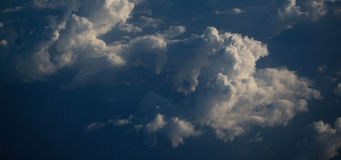 Sky and clouds natural banner Stock Images