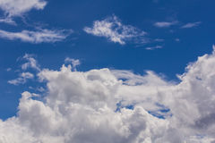 Sky with clouds nature background Royalty Free Stock Photos