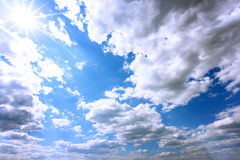 Sky clouds. Nature landscape background Royalty Free Stock Photos