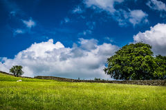 Sky and clouds over an English countryside. Springtime in Forest of Bowland, Lancashire, England UK Stock Photos