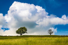 Sky and clouds over an English countryside. Springtime in Forest of Bowland, Lancashire, England UK Royalty Free Stock Photography