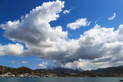 Sky with clouds over Port d'Andratx, Majorca Royalty Free Stock Images