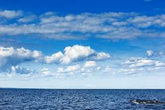 Sky with clouds over sea Royalty Free Stock Photo