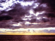 Sky with clouds over the sea Stock Image
