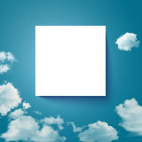Sky with clouds page layout for Your business pres Stock Photography