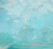 Sky and clouds, painting by oil on a canvas,  illustration,backg Royalty Free Stock Images