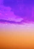 Sky with clouds in pastel colors, background, texture Royalty Free Stock Photo
