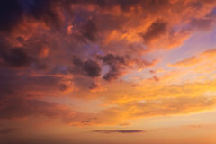 Sky clouds pastel tones, morning evening sunset sunrise Royalty Free Stock Photos