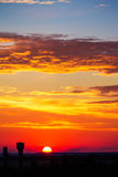 Sky clouds pastel tones, morning evening sunset sunrise Stock Photo