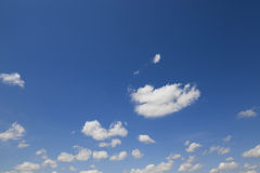 Sky with clouds. Photo of the sky, where clouds are light in color stock image