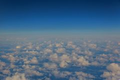 Sky clouds. Plane view from the window. Sky and clouds. Plane view from the window stock images